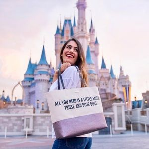 Kate Spade Disney Glitter Tote Pixie Dust Quote